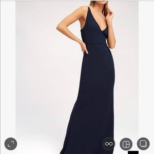 78110917b8d4f Lulu s Dresses - Melora Navy Blue Sleeveless Maxi Dress